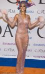 RIHANNA'S SHEER NAKED SWAROVSKI CRYSTAL DRESS AT THE CDFA FASHION AWARDS