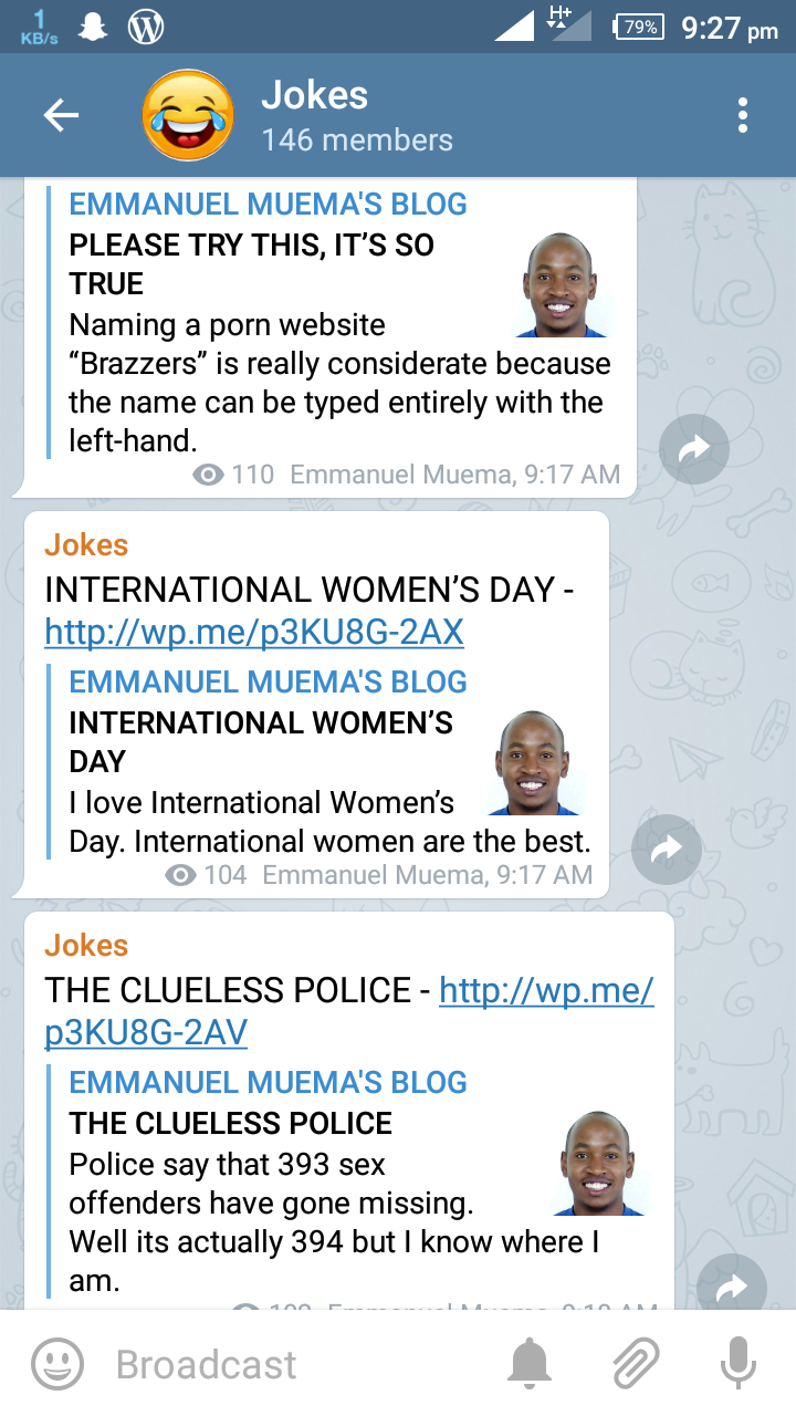 JOIN MY TELEGRAM CHANNEL WHICH IS ALL ABOUT JOKES | EMMANUEL
